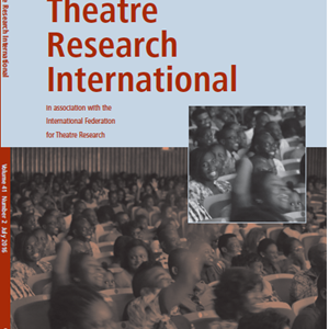 Theatre Research International 41.2 is now available