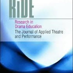 "Release: Special themed issue of ""RiDE -Research in Drama Education"" by the ""Performance and Disability"" IFTR WG"