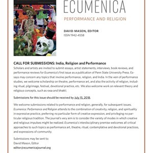 Ecumenica Issue: India, Religion, and Performance