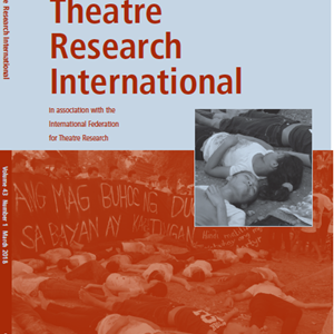 Theatre Research International 43.1 is now available